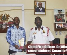CHIEF FIRE OFFICER CONGRATULATES SECURITY WAREHOUSE LIMITED