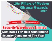 SECURITY WAREHOUSE LIMITED NOMINATED FOR MOST OUTSTANDING SECURITY COMPANY OF THE YEAR