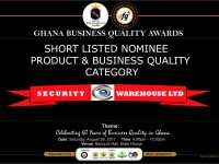 SECURITY WAREHOUSE LIMITED NOMINATED FOR GHANA BUSINESS QUALITY AWARDS